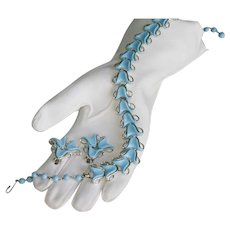 Coro Powder Blue Plastic Earring and Necklace Demi