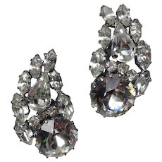 Fabulous Rhinestone Headlight Earrings