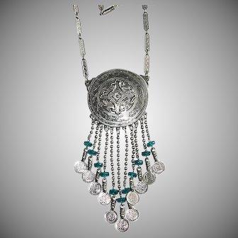 Accessocraft Etruscan Medallion Dangle Necklace