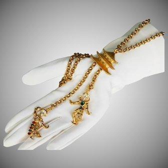 KJL Balinese Temple Dancers Necklace/Brooch