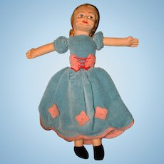 Vintage Cloth Norah Wellings  Doll with Label!
