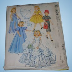 "McCall's Vintage High Heel Fashion Doll Pattern for 10 1/2"" Dolls"