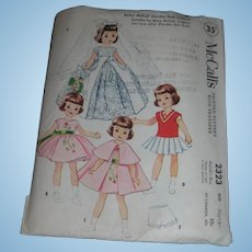 """McCall's Vintage Betsy McCall Doll Pattern for 8"""" Dolls"""