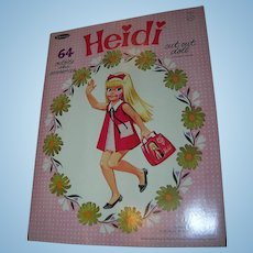 """Vintage 1966 Paper Doll  """"Heidi"""" Set by Whitman for Remco"""