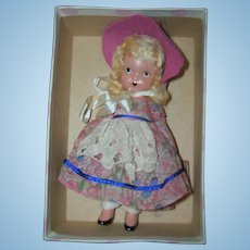 "Nancy Ann Storybook Doll Bisque ""Merry Little Maid"" in original box"
