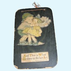 Vintage Drayton Style Plaque of Children