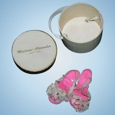 Vintage Original Madame Alexander White Hat Box with Cissy Heels