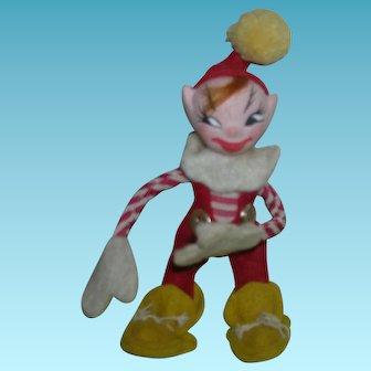 """Vintage HTF 1940's """"Jump Jump"""" Elf Doll"""