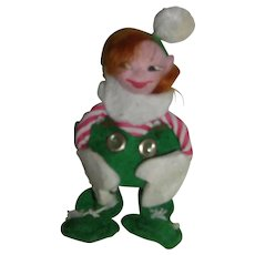 "Vintage HTF 1940's ""Jump Jump"" Girl Elf Doll"
