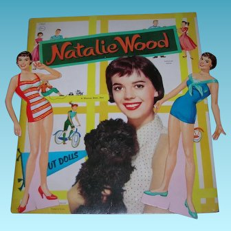 "1957 Vintage ""Natalie Wood"" Paper Doll Set"