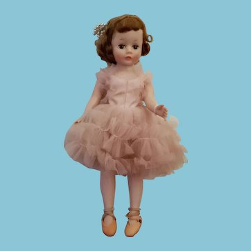 Vintage 1950's Madame Alexander Cissette Doll in tagged outfit
