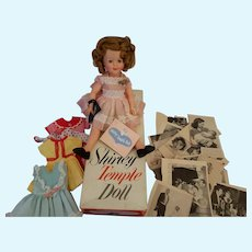 Vintage 1957 Boxed Ideal Shirley Temple Doll with Wardrobe