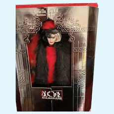 MIB 1997 Mattel Cruella De Vil Barbie Doll,Great Villains Collection
