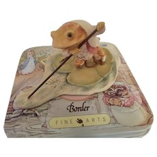"""Beatrix Potter figurine """"Jeremy Fisher Punting"""" with Collector Tin"""