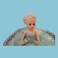"""Vintage 1950s 10 1/2"""" Fashion Doll All Original"""