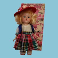 """Vogue 1954 Ginny """"Tiny Miss"""" Doll in Original Box with Booklet"""