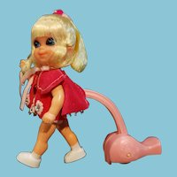 """Vintage Mattel 1960's """"Shirley Skediddle"""" Kiddle all original"""