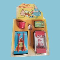 """Vintage 1950's My Merry """"Dolly's Outdoor Set"""" Toy All Original"""