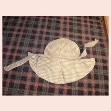 Antique Ladies Cotton Print Sun Bonnet