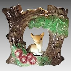 Hornsea Pottery Fauna Double Vase No 52 With Fawn