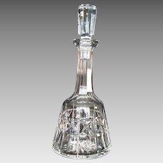"""Vintage Waterford Crystal Wine Decanter """"Kylemore"""" Pattern"""