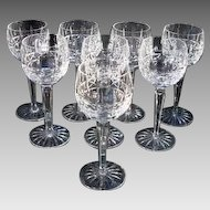 "Waterford Crystal Hock Glasses ""Kylemore"" Vintage"