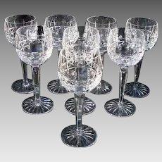 """Waterford Crystal Hock Glasses """"Kylemore"""" Vintage"""