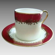 Aynsley Bone China Demi Tasse Cup and Saucer/Coffee Can - Vintage