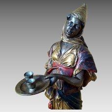 Franz Bergman Cold Painted Vienna Bronze - Orientalist Lady Figurine
