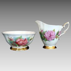 """Vintage Paragon """"Rendezvous"""" Open Sugar Bowl and """"Prelude"""" Milk Jug - Harry Wheatcroft"""