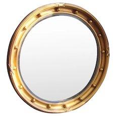 Antique Georgian Regency Bull's eye Mirror c1820