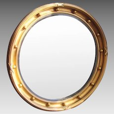 Antique Georgian Regency Bull's eye Mirror c1820