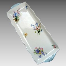 "Shelley ""Wild Flowers""  Handled Sandwich Plate - (1945 - 1966)"