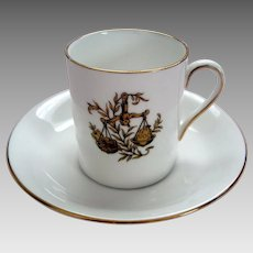 "Vintage ""Libra"" Demi Tasse / Coffee Can and Saucer - Royal Tuscan - ""Horoscope"" Series"