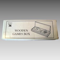 Vintage Wooden Boxed - Reader's Digest Family Games Box - In Original Packaging
