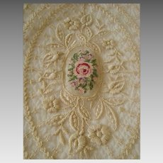 Rare and Beautiful - Antique - Lace Bed Cover / Spread AND Original Under Cover