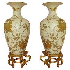 Magnificent Pair of Antique Japanese Vases