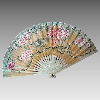 Early 20th Century - Hand Painted Fan - Asian