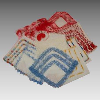10 Vintage Crochet Edged Ladies Handkerchiefs - Hankies