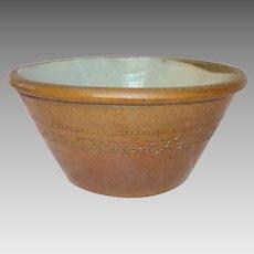 Large Victorian Salt Glaze Farmhouse Bowl - 19th Century