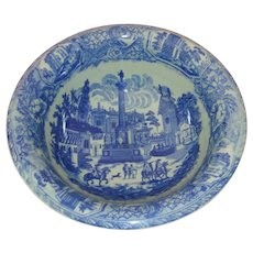 Very Large Victoria Ware Blue and White Bowl