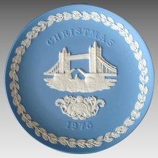 Wedgwood Blue Jasperware - 1975 - Christmas - Decorative Plate - Tower Bridge