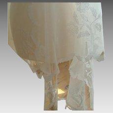 19th Century - Limerick Lace - Bridal Veil - Shawl - Antique - Irish