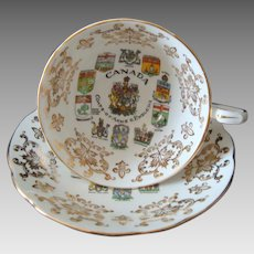 Paragon - Canada - Coats of Arms and Emblems - Cup and Saucer - Vintage