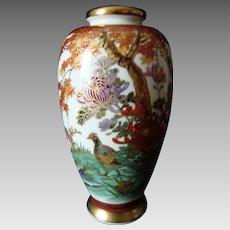Vintage Japanese Satsuma Vase - Autumn