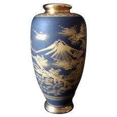 Vintage Japanese Satsuma Vase - Winter