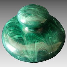 Faux Malachite - Solid China Paper Weight - Vintage