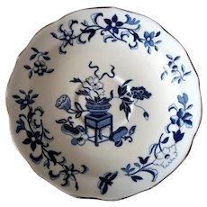 Spode Copeland -  Bone China -  Saucer - Blue Bowpot - Vintage