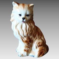 Vintage Cat Figurine - Ginger and White