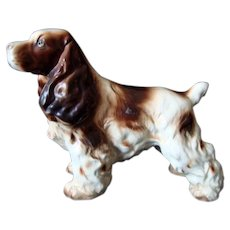 Vintage - Springer / Spaniel Dog Figurine - Large - Made in Japan